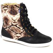 KD191-Boots-Animal-Print-Phyton-Preto-Frente.JPG