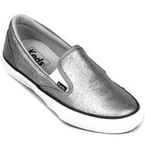 KD203-Slip-On-Shine-Prata-Leather-Frente