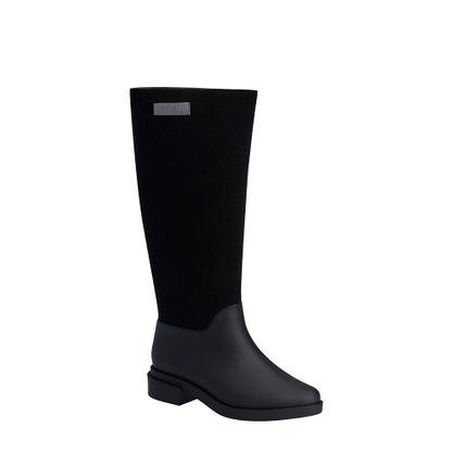 31922-Melissa-Long-Boot-Flocked-PretoFlocado-Lado