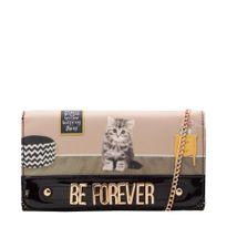 31.71401-Carteira-Be-Forever-Cat-Believe-DouradoPreto-Frente