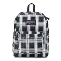 T501-Jansport-Superbreak-BlackArcadePlaid-0KM-Frente