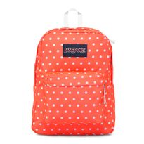 T501-Jansport-Superbreak-TahitianOrangeWhiteDots-0P7-Frente