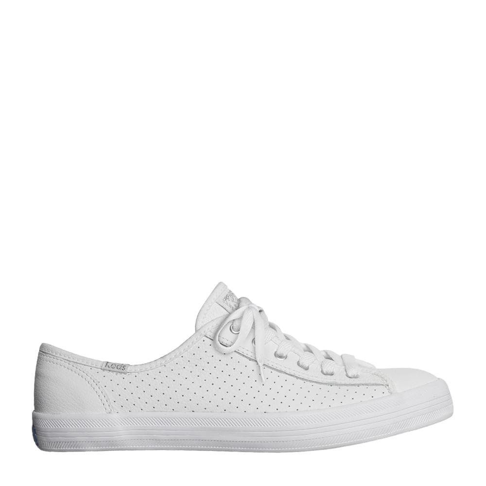 2f1ec2376 Tênis Keds Kickstart Perf Leather Branco Prata | Sua Loja Keds - Menina  Shoes
