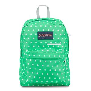 T50F-Jansport-Digibreak-SeafoamGreenWhiteDots-0NK-Frente