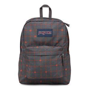 T501-Jansport-Superbreak-ShadyGreyStitchPlaid-0K7-Frente