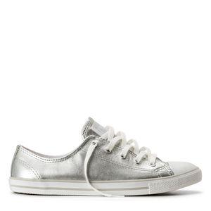 CE913114-AllStar-Converse--CTASDaintyLeatherOX-Silver-Lado