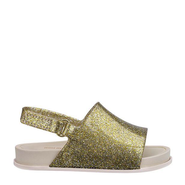 31997-Mini-Melissa-Beach-Slide-Sandal-GlitterDouradoBege-Direita