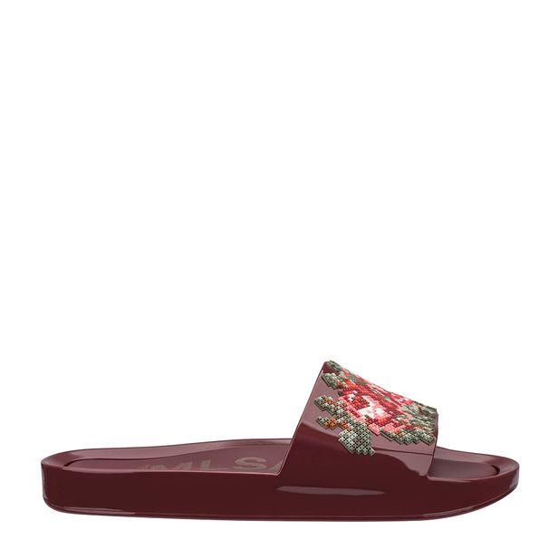 32331-Melissa-Beach-Slide-Flower-BordoVermelho-Direita