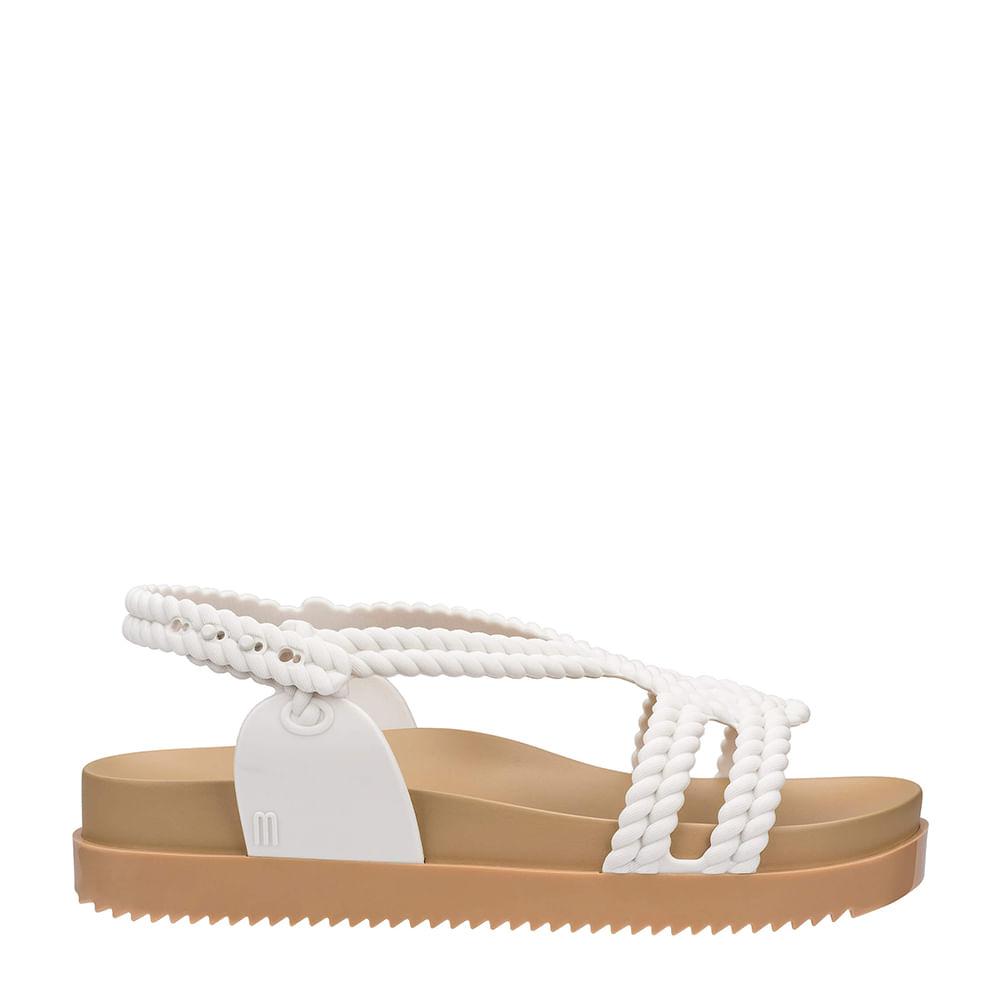 10e0962619827 Melissa Cosmic Sandal + Salinas Bege Branco