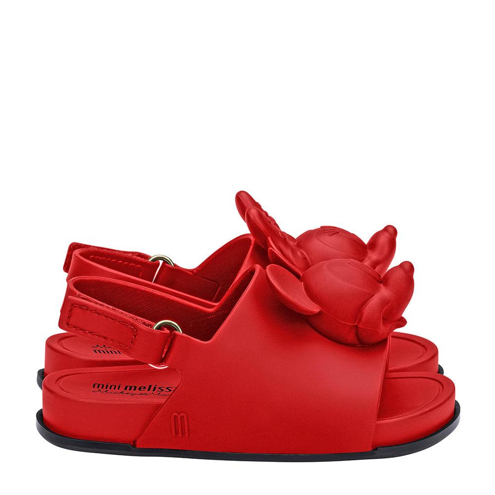 Mini Melissa Beach Slide Sandal + Disney Vermelho Preto ...