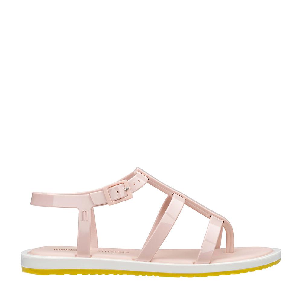 107794e9e Melissa Caribe Verão + Salinas Rosa Branco   Melissa - Menina Shoes