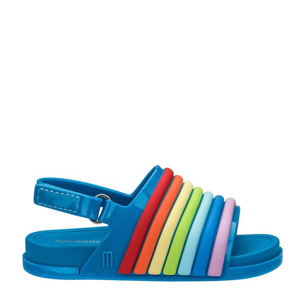 32486-Mini-Melissa-Beach-Slide-Sandal-Rainbow-AzulMulticor-Variacao1