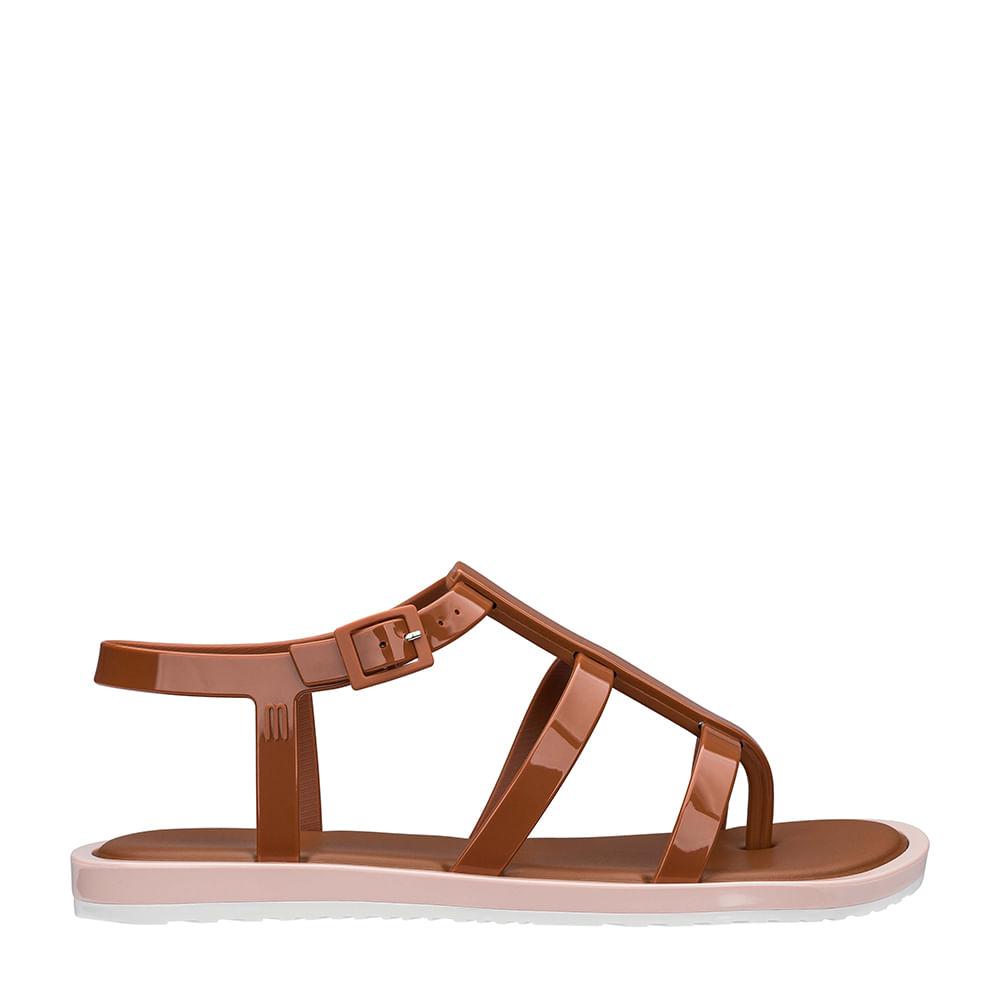 299d52aac Melissa Caribe Verão + Salinas Marrom Rosa Branco   Melissa - Menina Shoes