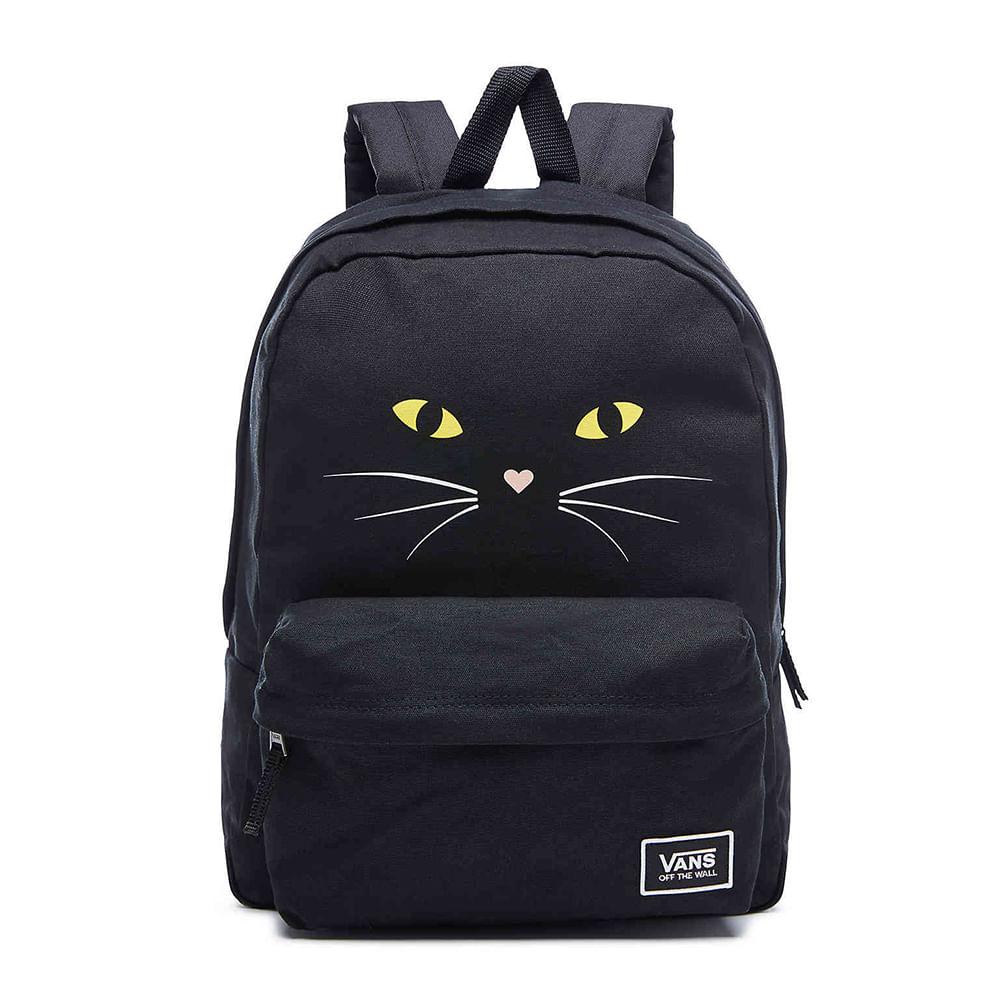 28b22dc152 Mochila Vans WM Real M Classic Black Cat | Vans - Menina Shoes
