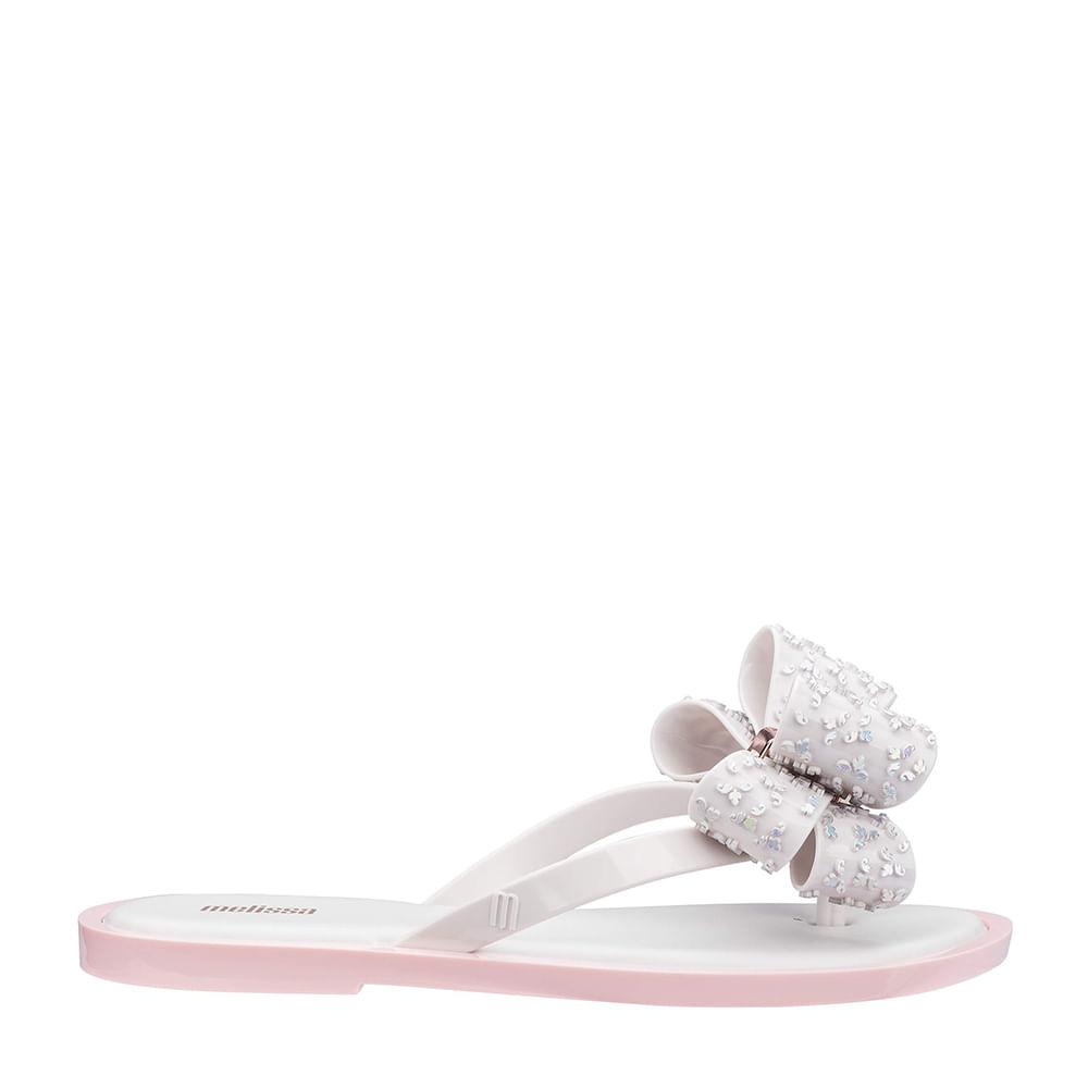 quality design 0b58c 09f5e Melissa Flip Flop Sweet Branco Rosa