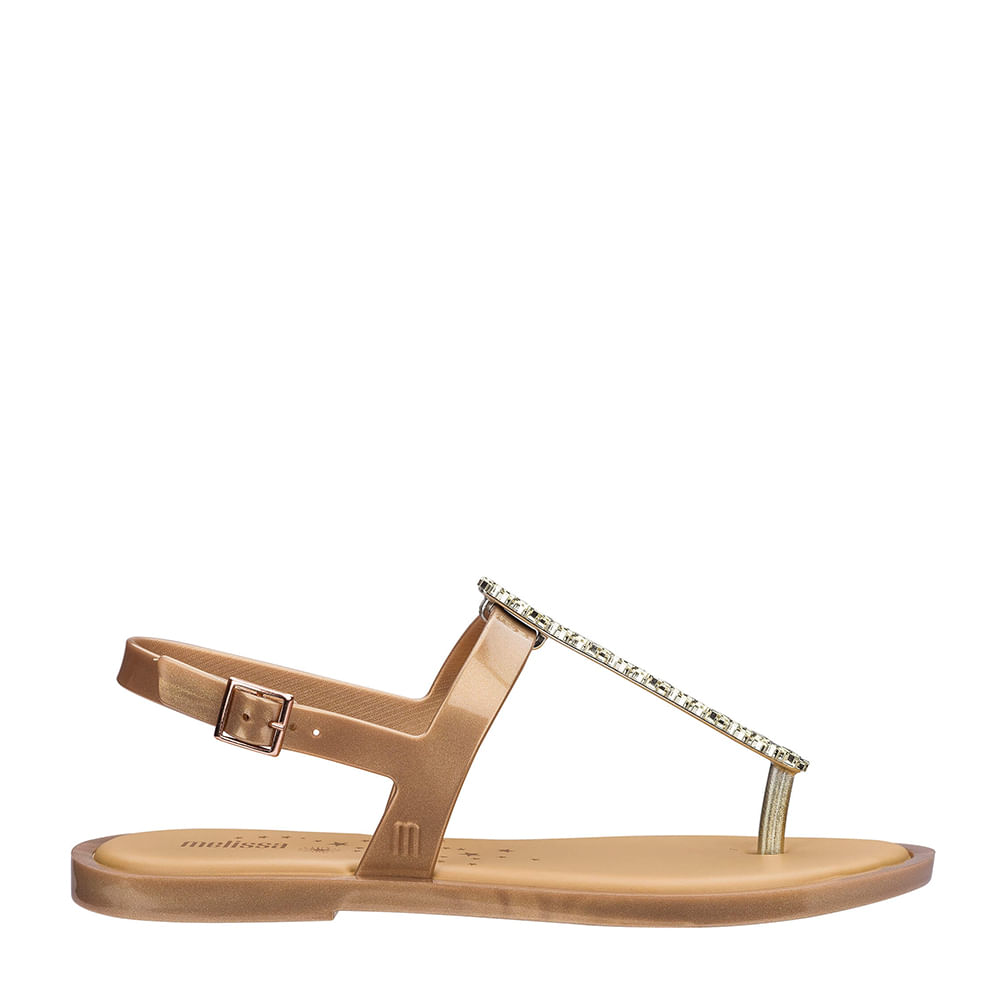 7f91500179e8 Melissa Slim Sandal II Ouro Metalizado