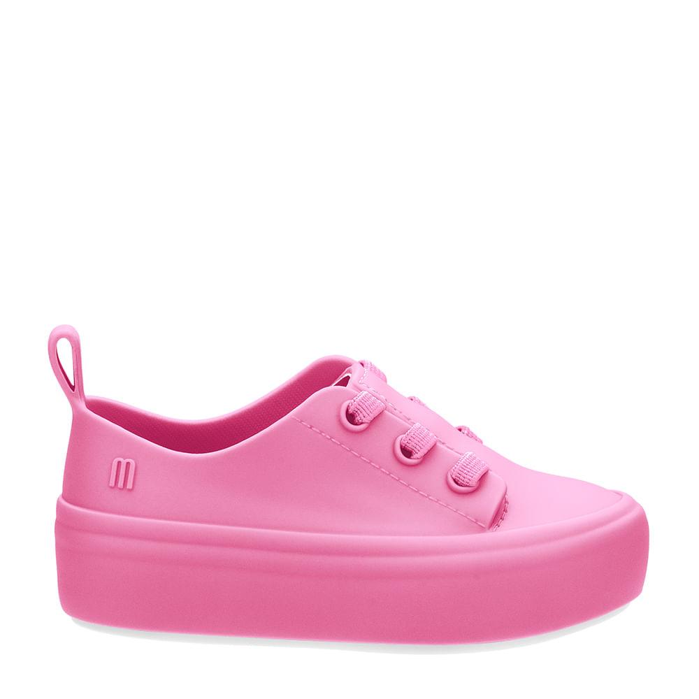 51a3155b623 Mini Melissa Ulitsa Sneaker Rosa Branco