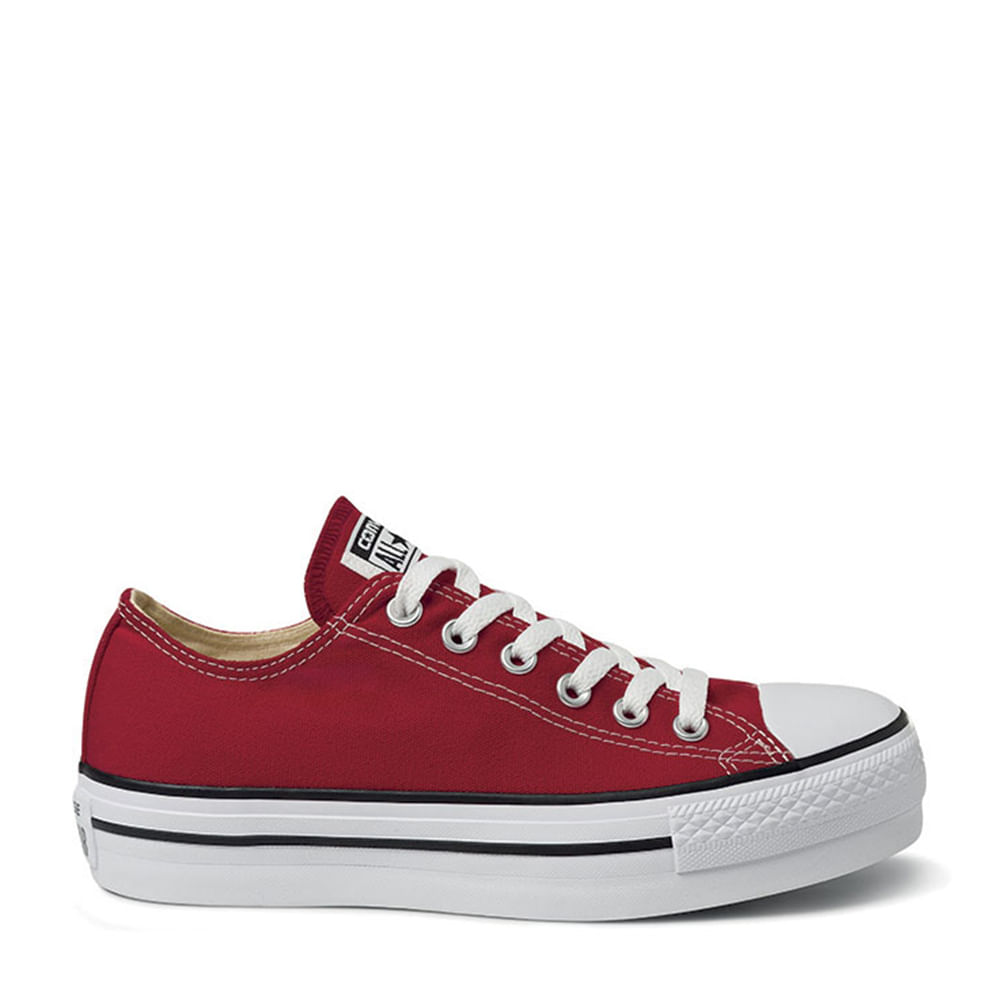 c52282e3a9 Tênis All Star Chuck Taylor Platform Vermelho Preto Branco | Converse -  Menina Shoes