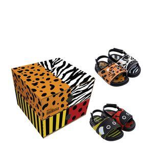 32607-Mini-MelissaBeach-Slide-Sandal-Zoo-II-PtoVrAmLrBco-Variacao1