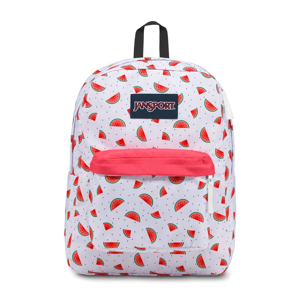 58699ff0e Mochila JanSport Superbreak Watermelon Rain   Jansport - Menina Shoes