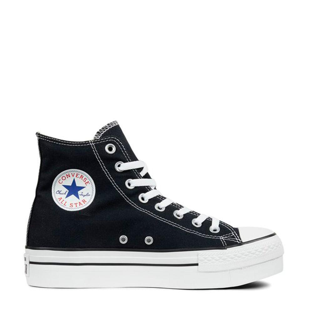 9b4f4c05de9 Tênis Chuck Taylor All Star Platform Preto Branco