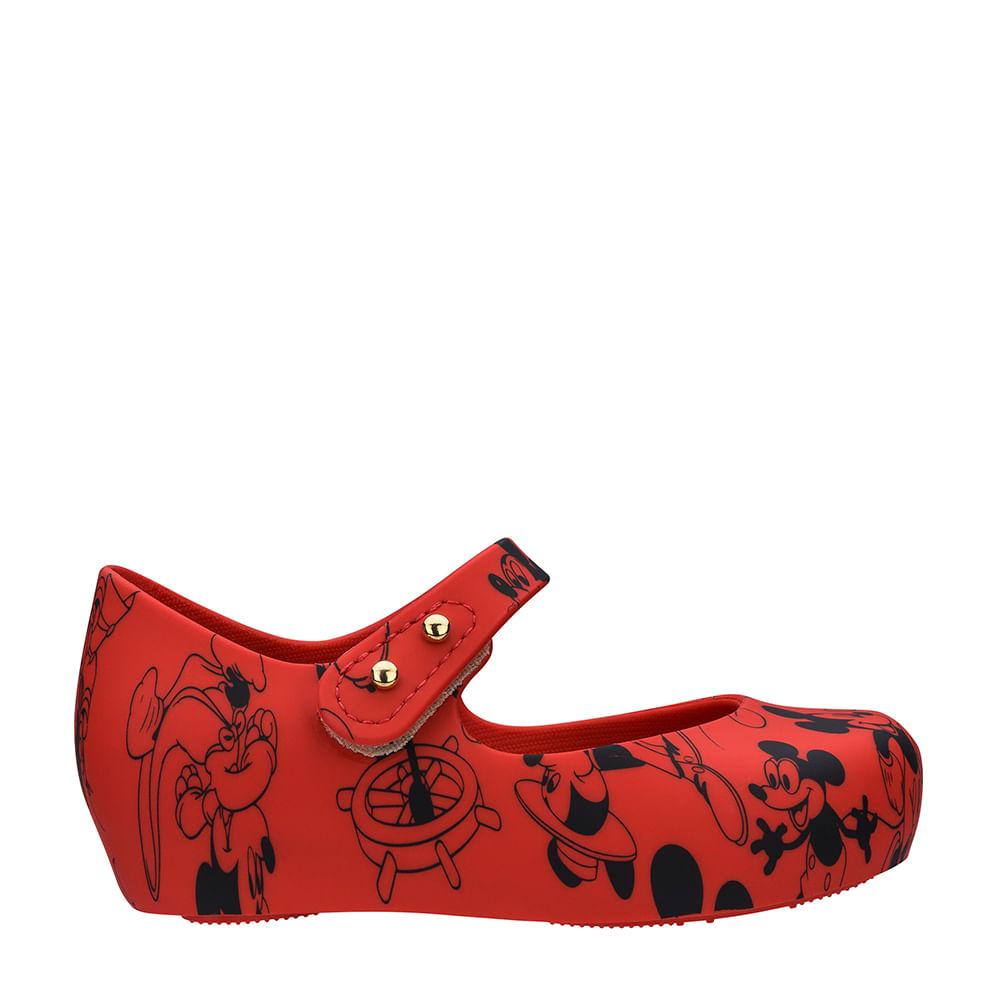 f9ca46c8d14 Mini Melissa Ultragirl + Mickey Vermelho Preto | Melissa - Menina Shoes