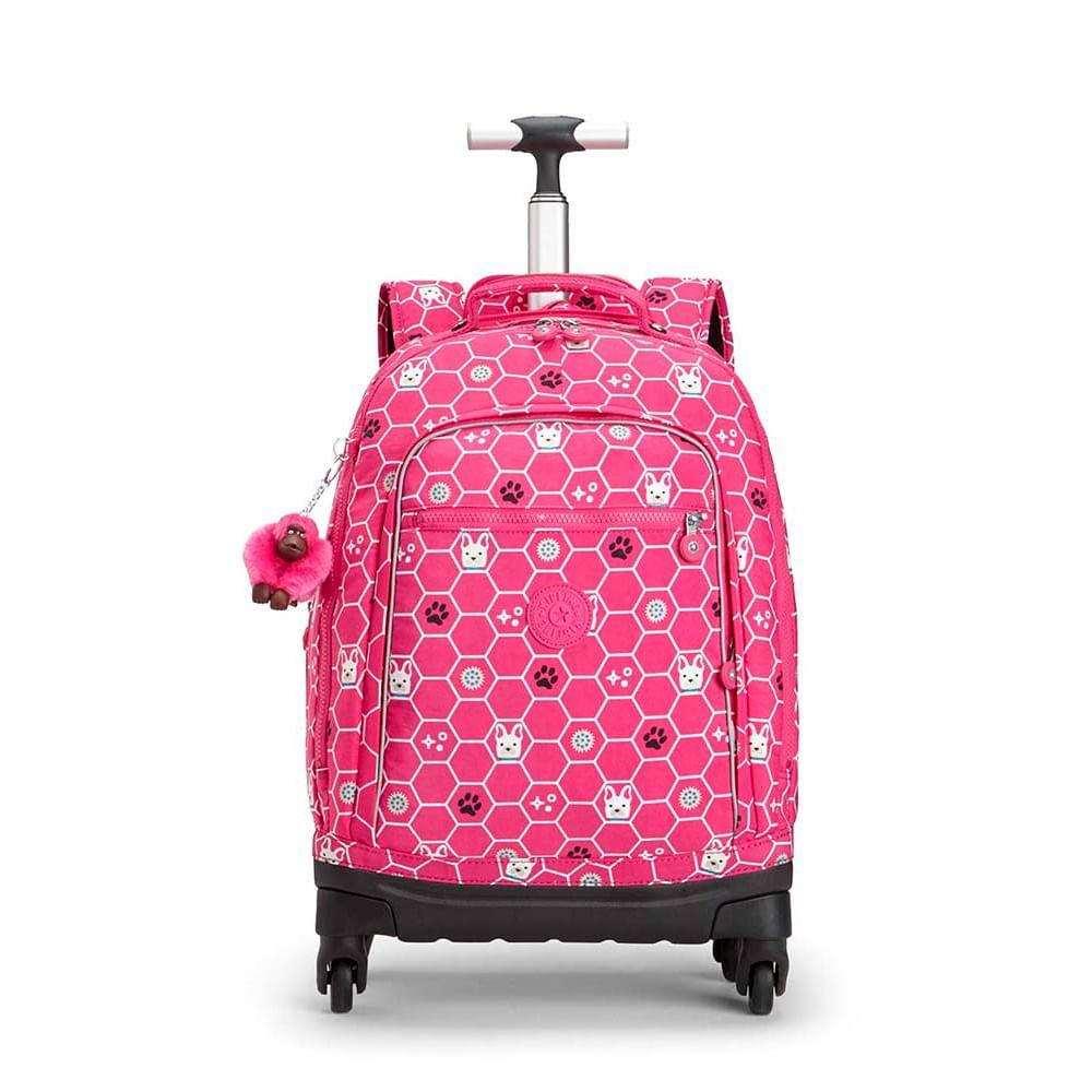 b6d379e3a Mochila Kipling Echo Pink Dog Tile | Kipling - Menina Shoes