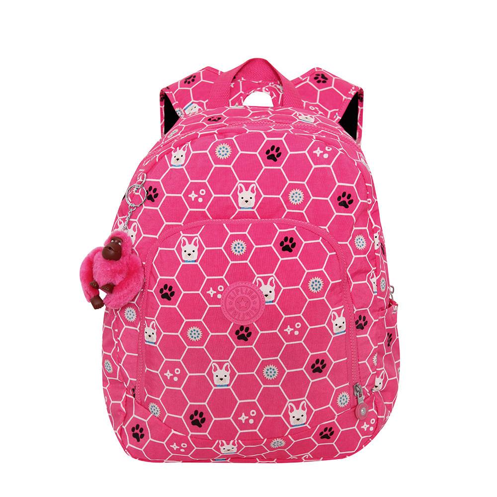 16542d543 Mochila Kipling Carmine Pink Dog Tile | Kipling - Menina Shoes