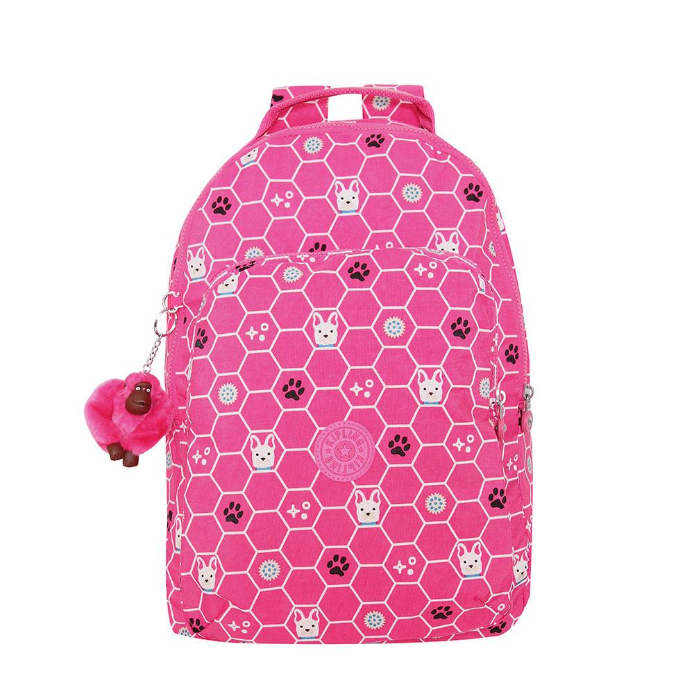7280e8a28 Mochila Kipling Gouldi Pink Dog Tile | Kipling - Menina Shoes