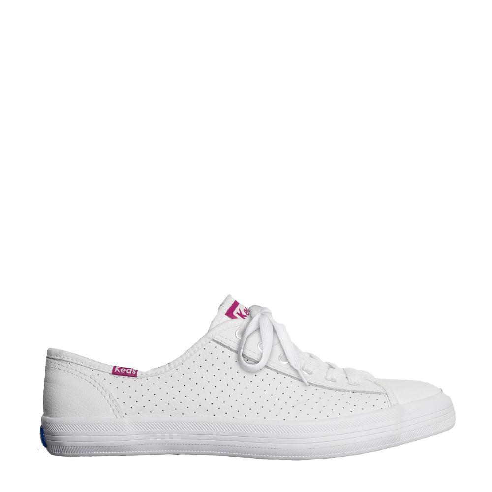 fee296e609 Tênis Keds Kickstart Perf Leather Branco Violet