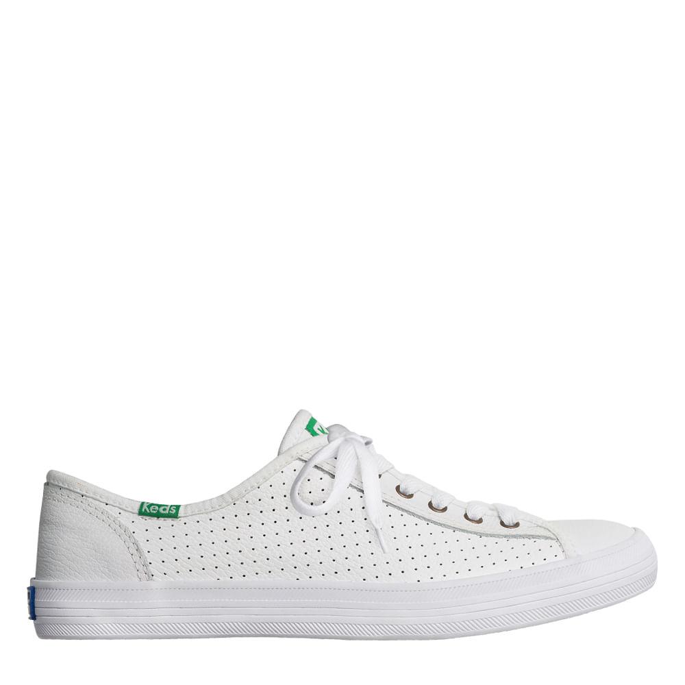 17e5c61bb Tênis Keds Kickstart Perf Leather Branco | Sua Loja Keds - Menina Shoes