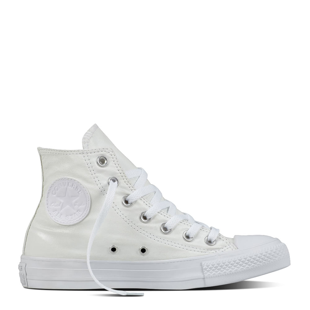 73e2df7a540c5f Tênis All Star Monochrome Leather HI Branco