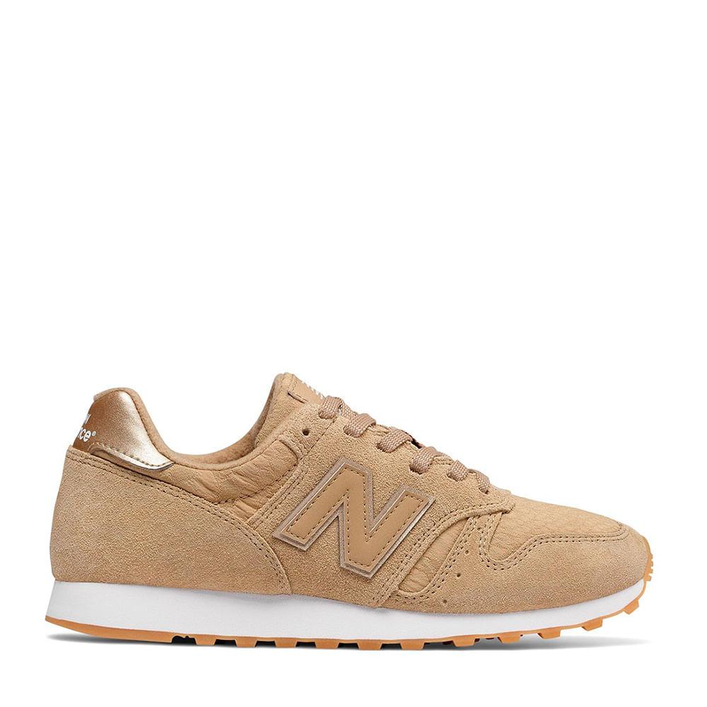 afe2d887c Tênis New Balance 373 Bege Dourado | New Balance - Menina Shoes