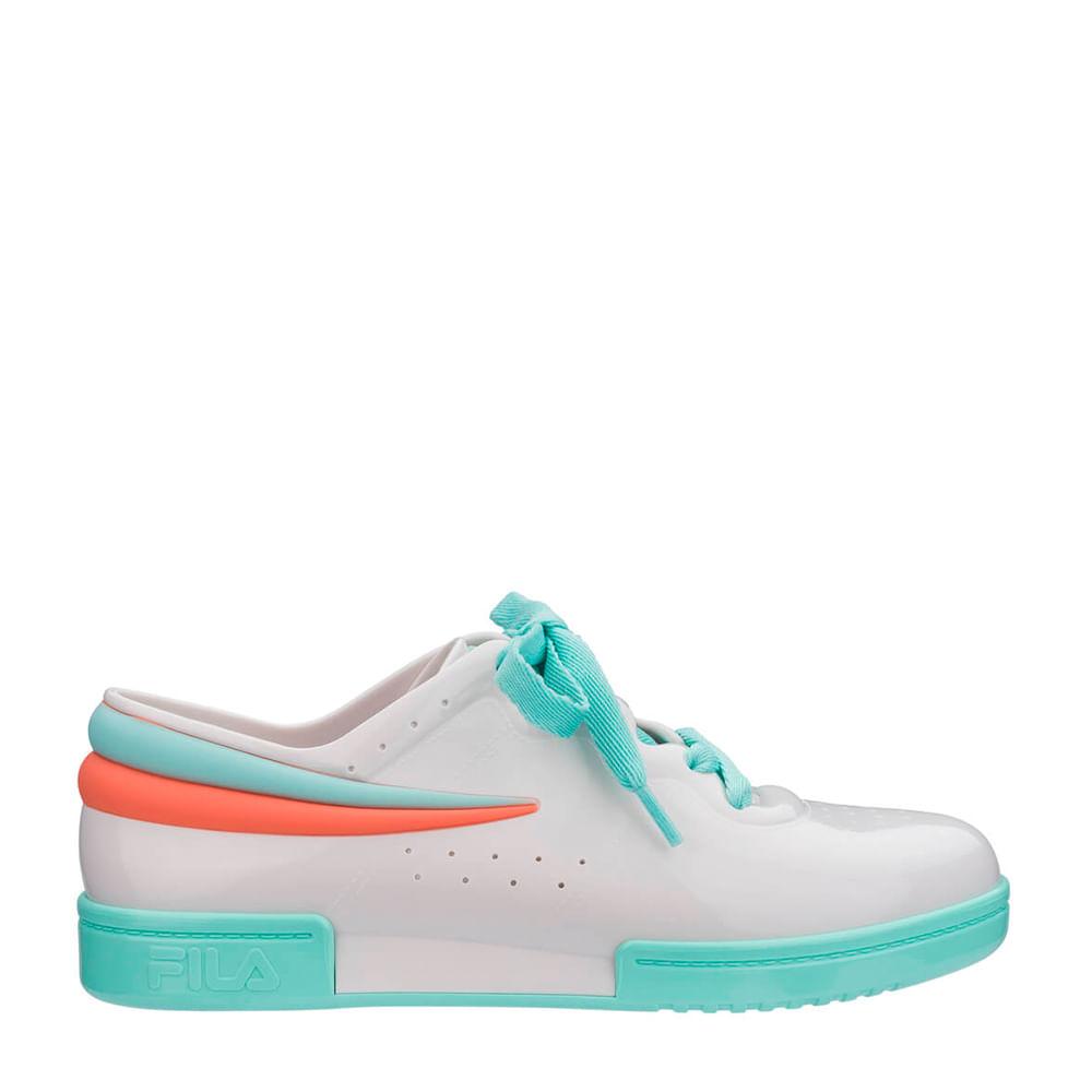 27d4064d Melissa Sneaker + Fila Branco Verde Rosa | Melissa - Menina Shoes