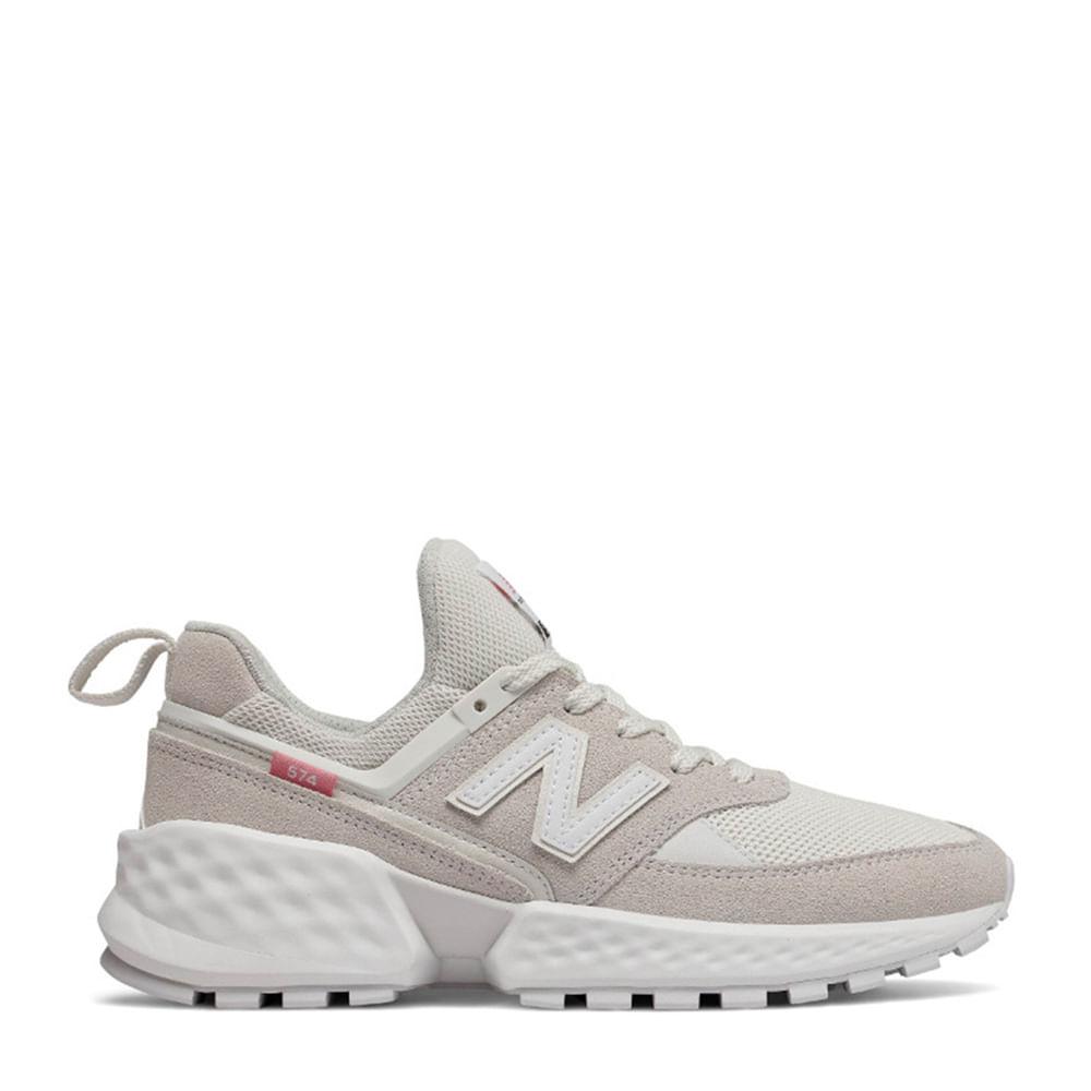 3ee2906c09a Tênis New Balance 574 Cinza Branco
