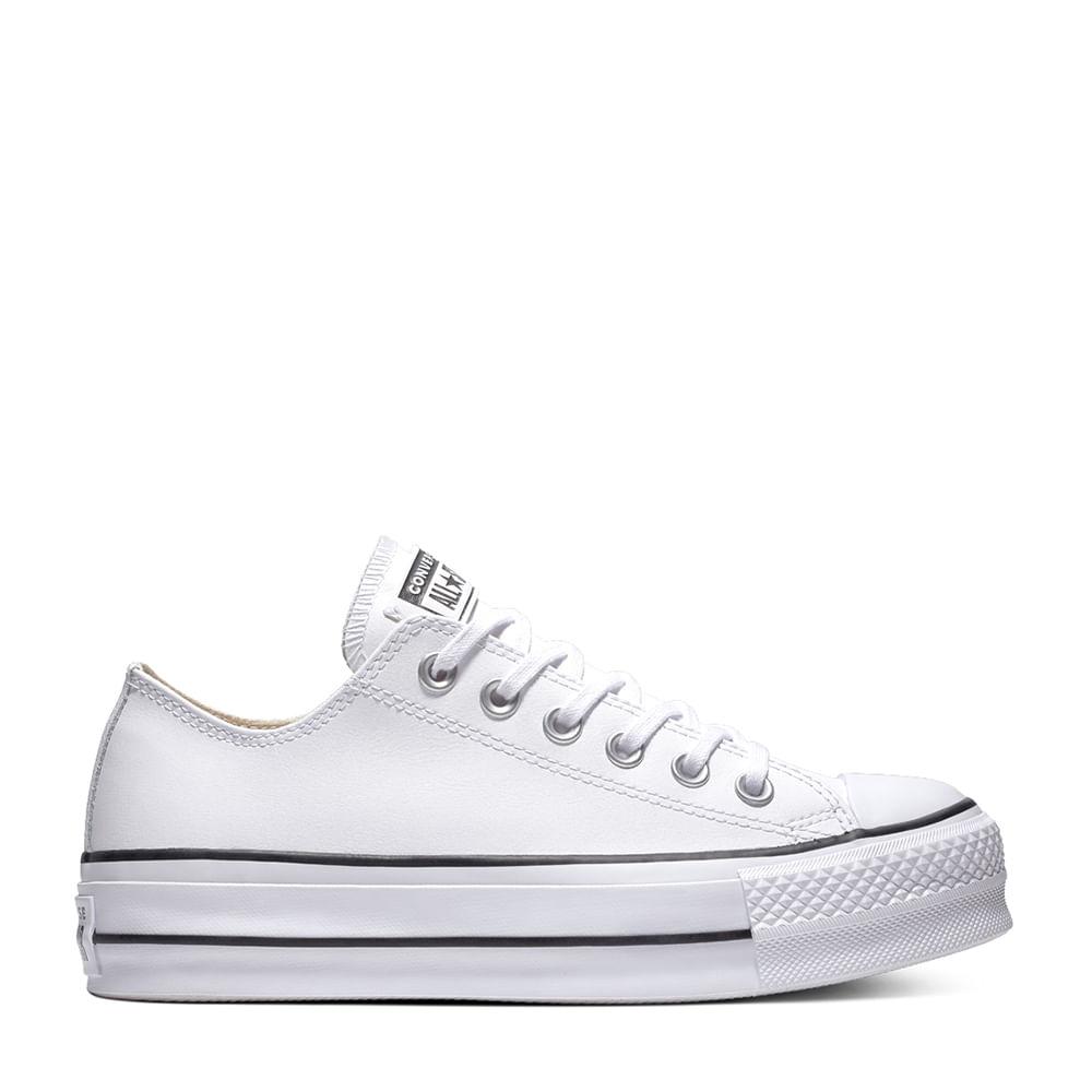 d140226c Tênis Chuck Taylor All Star Lift Branco Preto | Converse - Menina Shoes
