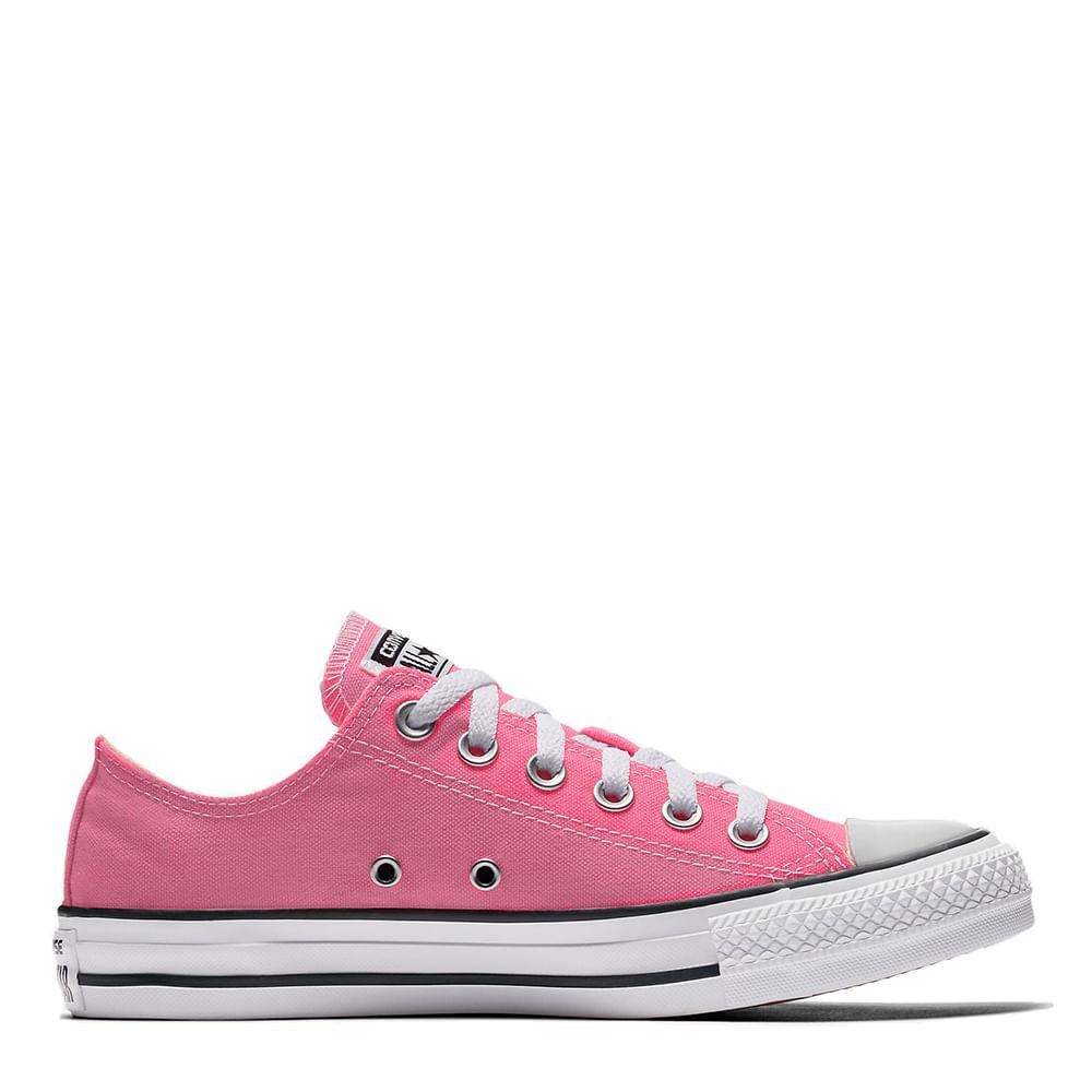 ee59fd34e Tênis Chuck Taylor All Star Rosa Cru Preto   Sua Loja Converse - Menina  Shoes