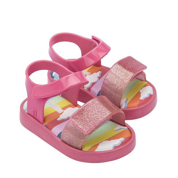 33343-Mini-Melissa-Jump-Sunny-Day-Preta-Rosa-Rosa-Glitter-variacao1