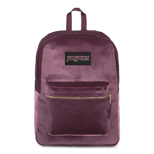 4QU969Z-Mochila-JanSport-Superbreak-Velvet-DRIED-FIG-VELVET-variacao1