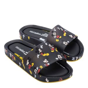 33393-MINI-MELISSA-BEACH-SLIDE-MICKEY-AND-FRIENDS-III-BEGE-TRANS-PRETO-AMARELO-variacao3